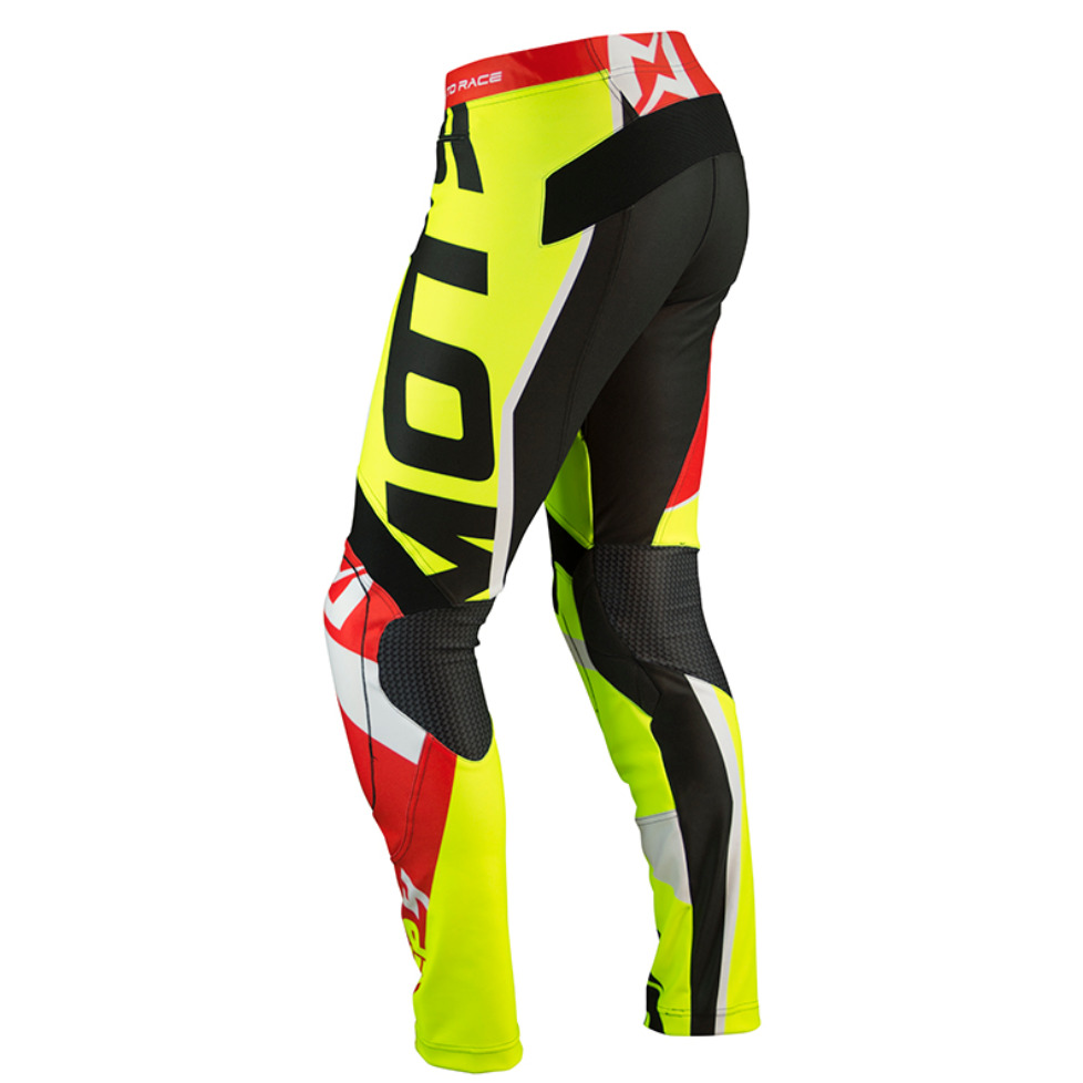 MOTS Step4 Pants - Red / Fluoro Yellow